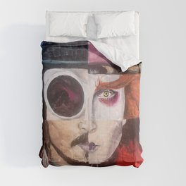 Four Faces of Johnny Depp Comforters