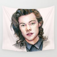 coconutwishes Wall Tapestries featuring Harry colors by Coconut Wishes