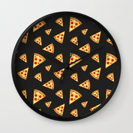 Cool and fun pizza slices pattern Wall Clock