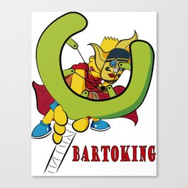 Bartoking with title Canvas Print