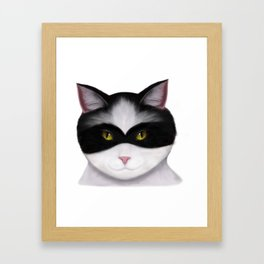 They call me the Masked Cat Framed Art Print