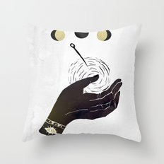 By The Pricking Of My Thumbs Throw Pillow