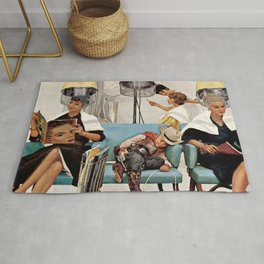Retro Beauty Salon Rug