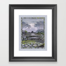 WALKWAY TO THE HANGING GLACIER Framed Art Print