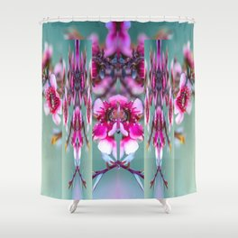 Cherry Blossom Abstract Shower Curtain