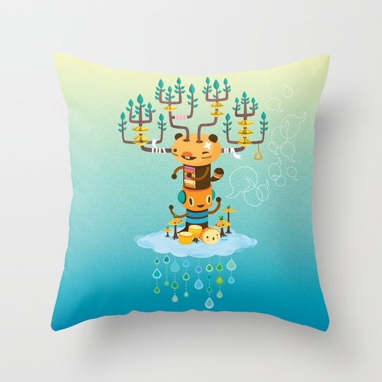 Cloud Music Throw Pillow