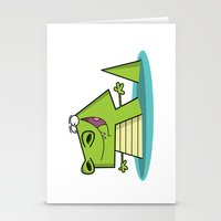 crocodile Stationery Cards featuring Crocodile by Shahed Ali illustration