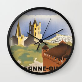 Vintage poster - Switzerland Wall Clock