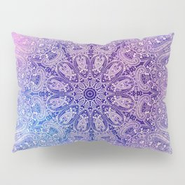 big paisley mandala in light purple Pillow Sham