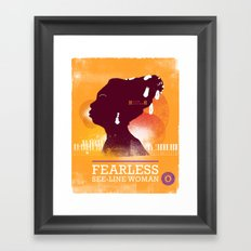 Fearless: See-line Woman Framed Art Print
