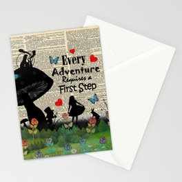 Every Adventure Requires a First Step - Alice In Wonderland Stationery Cards