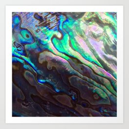 Pearlescent Abalone Shell Art Print