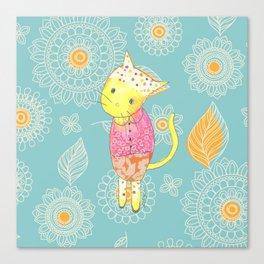 Dancing Cat Canvas Print