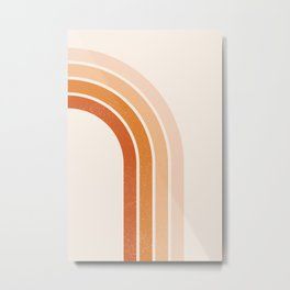 Peachy Rainbow Arch Metal Print