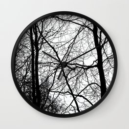 Tree Silhouette Series 3 Wall Clock