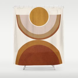 Modern Geometry Shower Curtain