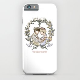 "Illustration from the video of the song by Wilder Adkins, ""When I'm Married"" (no names on it) iPhone Case"