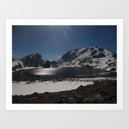 Buddhist Mountain Lakes of Langtang Art Print