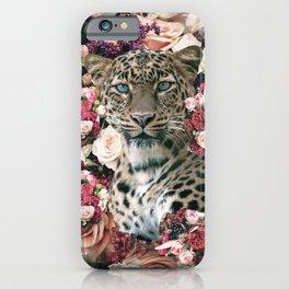 Cute Floral Leopard Flower iPhone Case