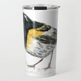 Hihi, New Zealand native Stitchbird Travel Mug