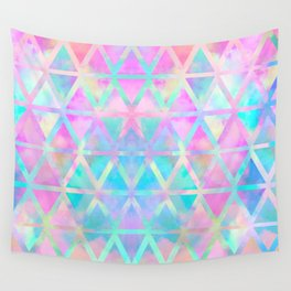 Pink pastel aztec pattern Wall Tapestry