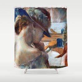 """Edgar Degas """"At the Mirror"""" Shower Curtain"""
