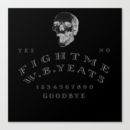 Fight Me, Yeats Canvas Print