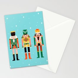 Nutcrackers Turquoise Stationery Cards