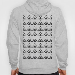 Trendy hand painted black white watercolor triangles zigzag Hoody