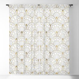 marble and gold art deco scales pattern Blackout Curtain