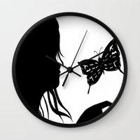 shadow Wall Clocks featuring Shadow by Ruby_Dag