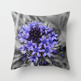 Portuguese Squill Beauty Throw Pillow