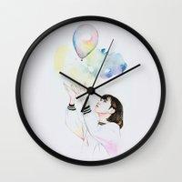 ballon Wall Clocks featuring Ballon by eteru