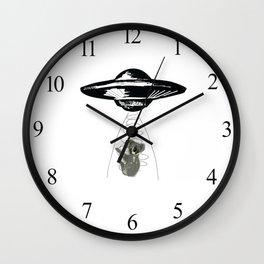 Koala Abduction #koala #art #UFO Wall Clock