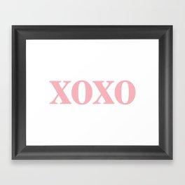 Coral XOXO Framed Art Print
