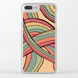 Rolling Waves Of Peachy Panic Clear iPhone Case