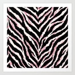 Zebra fur texture print Art Print