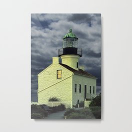 Cabrillo National Monument Lighthouse by San Diego in California Metal Print