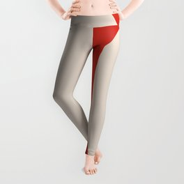 Red White Abstract aesthetic Leggings