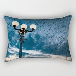 A murmuration of starlings (II) Rectangular Pillow