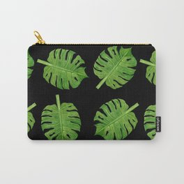 Dancing Monstera Leaves II Carry-All Pouch