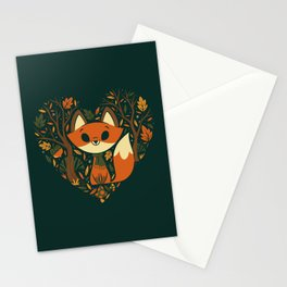 Foxy Heart Stationery Cards