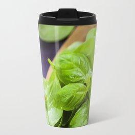 Basil and ingredients for making italian pasta Travel Mug