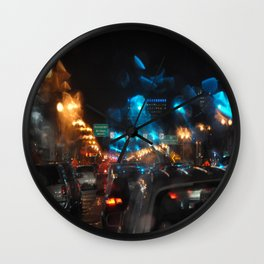 RAINY NIGHTS Wall Clock