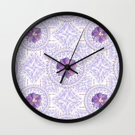 Delphinium Lace Wall Clock