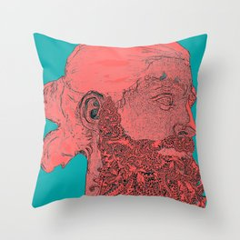 hipster Neptune Red Throw Pillow