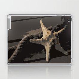 Starfish and boat rope on the pier - dark background - #Society6 - #buyart Laptop & iPad Skin