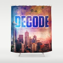 Decode in Downtown Seattle Shower Curtain