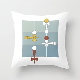 Kendama / passion obsession 1.2 Throw Pillow