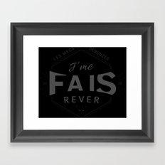 J'me fais rêver - Joss Framed Art Print